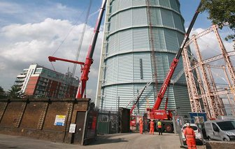 Manchester demolition contractors gasholder demolition